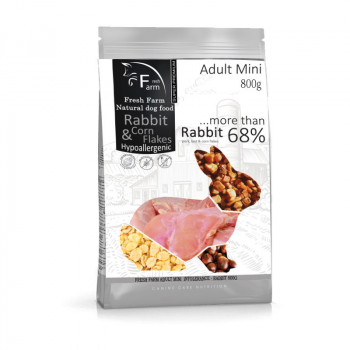 Fresh Farm Adult Mini Intolerance - Rabbit & Cornflakes 800g Fresh Farm - 1