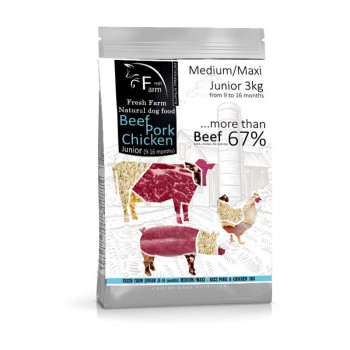 Fresh Farm Junior 9-16 Medium&Maxi - Multiprotein 3kg Fresh Farm - 1