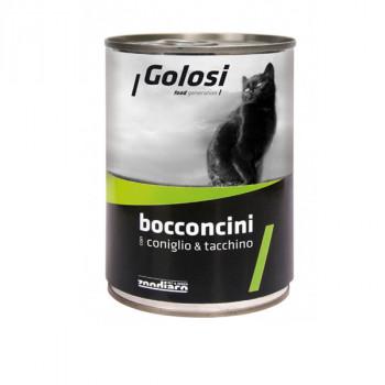 Golosi Bocconcini - Králićie a morčacie s ryžou 400g Zoodiaco - 1