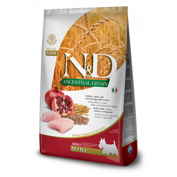 Farmina N&D Dog Low Grain Adult Mini Chicken & Pomegranate 2,5 kg Farmina N&D - 1
