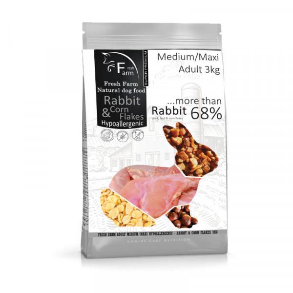 Fresh Farm Adult Medium&Maxi Intolerance - Rabbit & Cornflakes 3kg Fresh Farm - 1