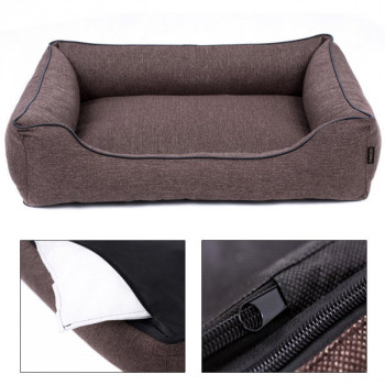 Sofa Mallorca Pelech Comfort - hnedá farba Ani - pet - 1
