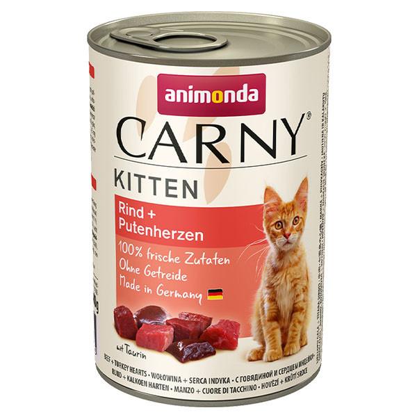 Carny Kitten - Hovädzie a morčacie srdcia 400g Animonda - 1