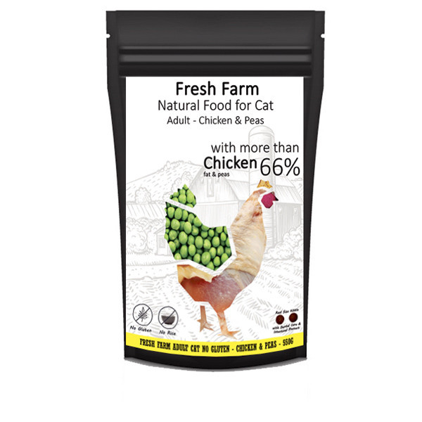 Fresh Farm No Gluten Cat Adult - Kuracie s hráškom 550g Fresh Farm - 1
