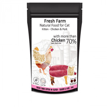Fresh Farm No Gluten Kitten - Kuracie a bravčové 550g Fresh Farm - 1