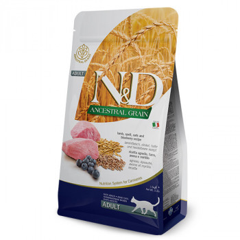 N&D Low Grain Cat Adult Lamb & Blueberry 1,5kg Farmina N&D - 1