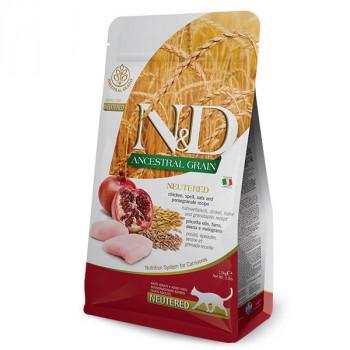 N&D Low Grain Cat Neutered - Chicken & Pomegranate 1,5kg Farmina N&D - 1