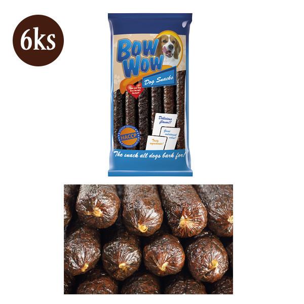 Bow Wow XS Klobása pre psa - kolagén a karamel 6ks (30cm)  - 1