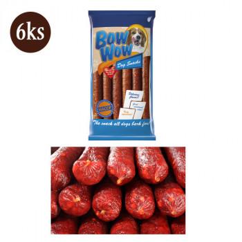 Bow Wow XS Klobása pre psa - uherák a karamel 6ks (30cm)  - 1