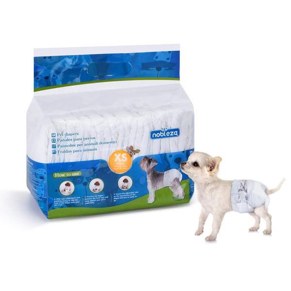 Plienky na psa Nobleza XS - 1-3kg (pás 18-30cm) 12ks Nobleza - 1