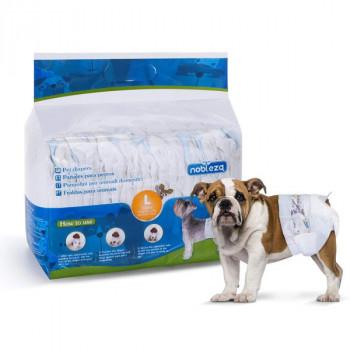 Plienky na psa Nobleza L - 6-11kg (pás 30-50cm) 12ks Nobleza - 1