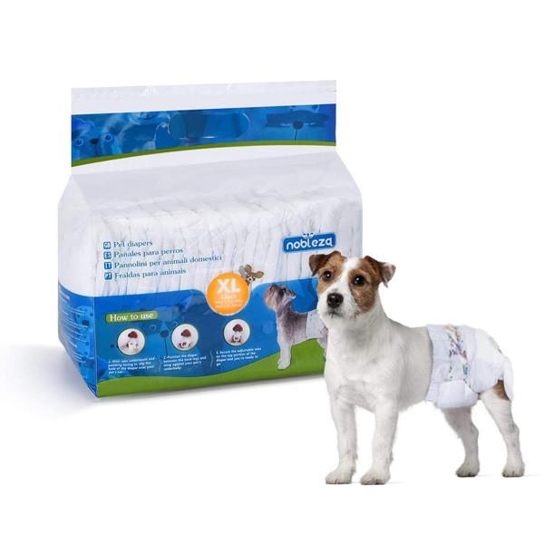 Plienky na psa Nobleza XL - 10-20kg (pás 34-54cm) 12ks Nobleza - 1