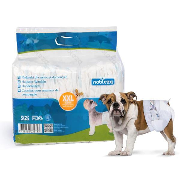 Plienky na psa Nobleza XXL - 18-30kg (pás 38-58cm) 12ks Nobleza - 1