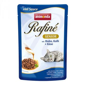 Rafiné Senior - Kura, teľacie a syr 100g Animonda - 1