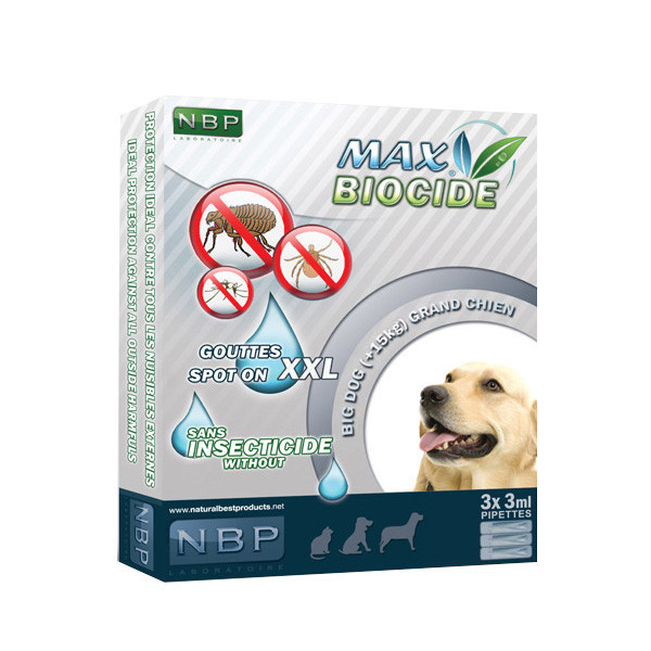 Max Biocide pipeta pre psov - 3 pipety (45 dní) Natural Best Products - 1