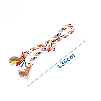 Bavlnené lano s 3 uzlami Nobleza - 36cm (béžové) Nobleza - 1