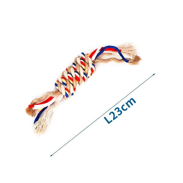 Bavlnené lano s hrubým uzlom Nobleza - 23cm (béžové) Nobleza - 1