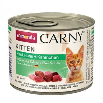 Carny Kitten - Hovädzie, kura a králik 200g Animonda - 1