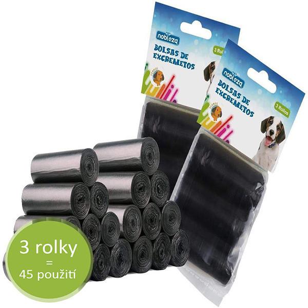 Sáčky na exkrement Nobleza 3 rolky - čierne (3x15ks) Nobleza - 1