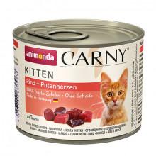 Carny Kitten - Hovädzie a morčacie srdcia 200g Animonda - 1