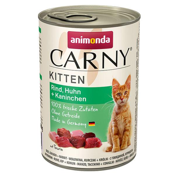 Carny Kitten - Hovädzie, kura a králik 400g Animonda - 1