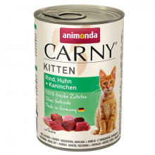 copy of Carny Kitten - Hovädzie, kura a králik 200g Animonda - 1