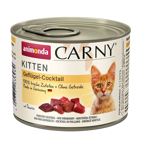 Carny Kitten - Hydinový koktejl 200g Animonda - 1