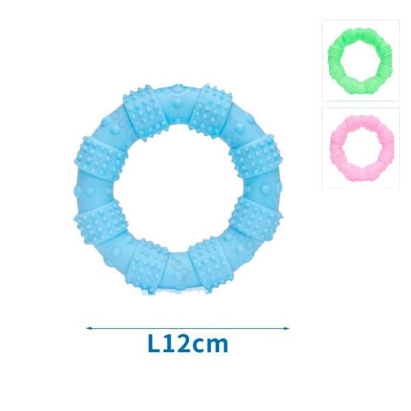 Gumený kruh s masážou ďasien pre psa Nobleza - 12cm Nobleza - 1