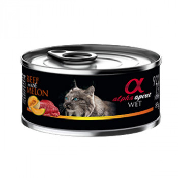 Alpha Spirit Cat Adult - Hovädzie s melónom 85g Alpha Spirit - 1