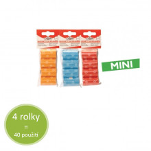 Sáčky na exkrement Camon Mini 4 rolky - farebné (4x10ks) Camon - 1