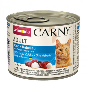 Carny Adult - Hovädzie, treska a petržlen 200g Animonda - 1