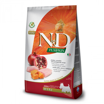 N&D Pumpkin Adult Mini - Chicken & Pomegrante 7kg Farmina N&D - 1
