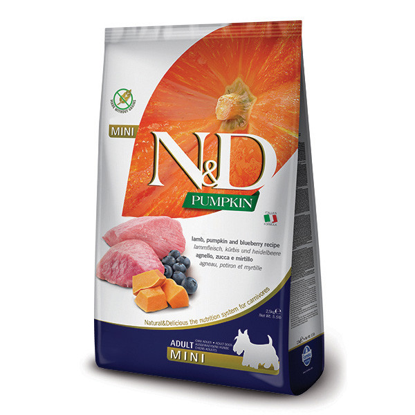 N&D Pumpkin Adult Mini - Lamb & Blueberry 7kg Farmina N&D - 1