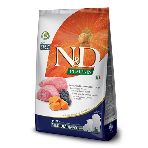 N&D Pumpkin Puppy Medium/Maxi - Lamb & Blueberry 2,5kg Farmina N&D - 1