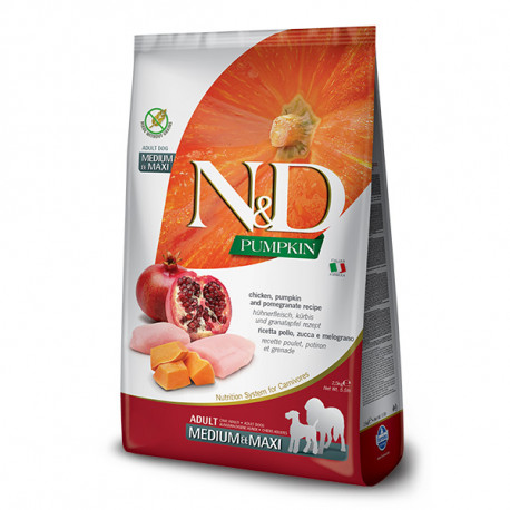 N&D Pumpkin Adult Medium/Maxi - Chicken & Pomegranate 2,5kg Farmina N&D - 1