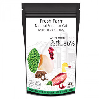 Fresh Farm No Grain Adult Cat - Kačica a morka 550g Fresh Farm - 2