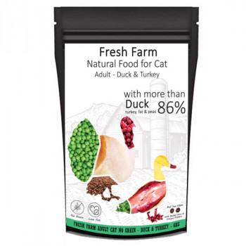 Fresh Farm No Grain Adult Cat - Kačica a morka 550g Fresh Farm - 3