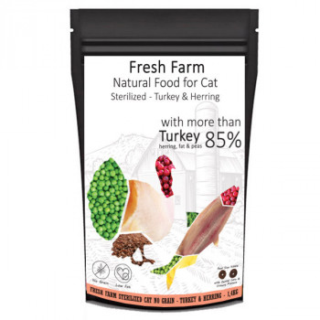 Fresh Farm No Grain Sterilized Cat - Morka a sleď 550g Fresh Farm - 2