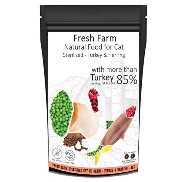 Fresh Farm No Grain Sterilized Cat - Morka a sleď 550g Fresh Farm - 3