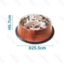 Nerezová miska Nobleza M - drevený dizajn Nobleza - 1