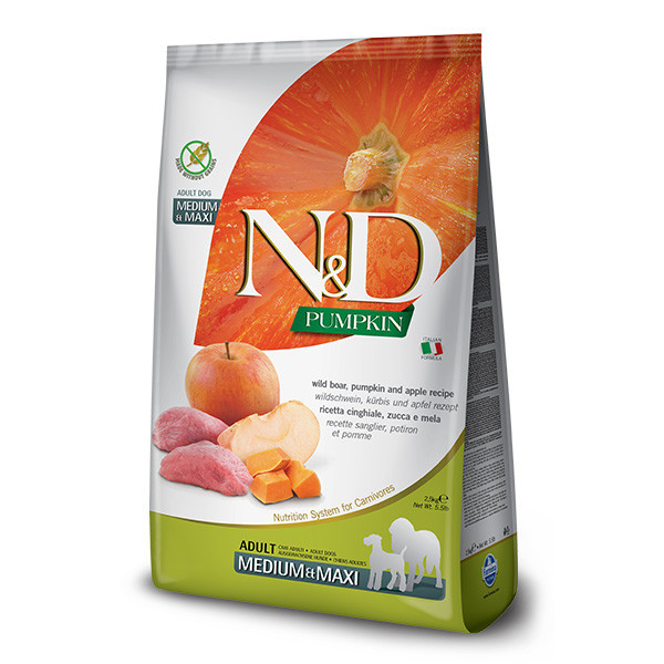 N&D Pumpkin Adult Medium/Maxi - Boar & Apple 2,5kg Farmina N&D - 1