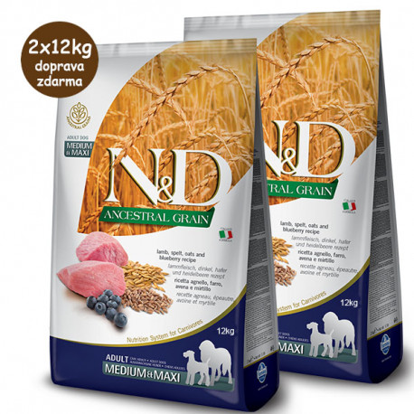 copy of Farmina N&D Dog LG Adult Medium&Maxi Lamb & Blueberry 2,5 kg Farmina N&D - 1