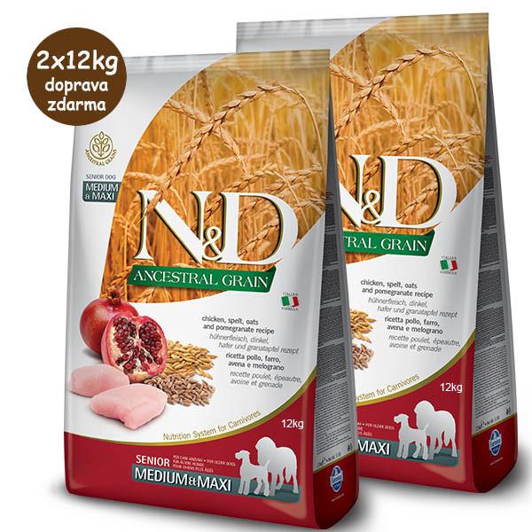 Farmina N&D dog LG Senior Medium&Maxi Chicken & Pomegranate 2x12kg Farmina N&D - 1