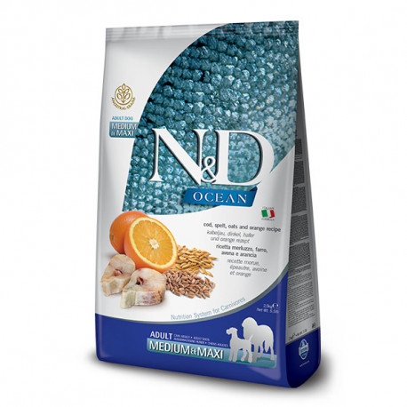 Farmina N&D Dog LG Adult Medium&Maxi Cod, Spelt, Oats & Orange 2,5 kg Farmina N&D - 1