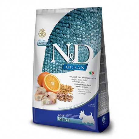 Farmina N&D dog LG Adult Mini Cod, Spelt, Oats & Orange 2,5 kg Farmina N&D - 1