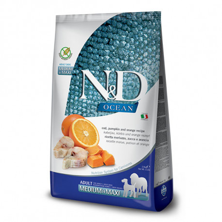 copy of N&D Pumpkin Puppy Medium/Maxi - Lamb & Blueberry 2,5kg Farmina N&D - 1