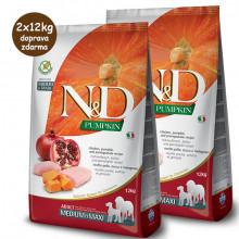 copy of N&D Pumpkin Adult Dog Medium/Maxi - Chicken & Pomegranate 12kg Farmina N&D - 1