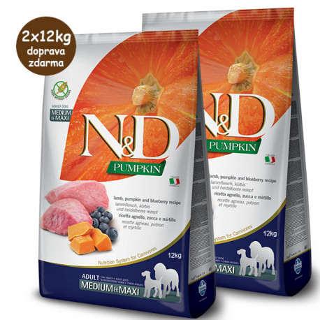 copy of N&D Pumpkin Adult Medium/Maxi - Lamb & Blueberry 12kg Farmina N&D - 1