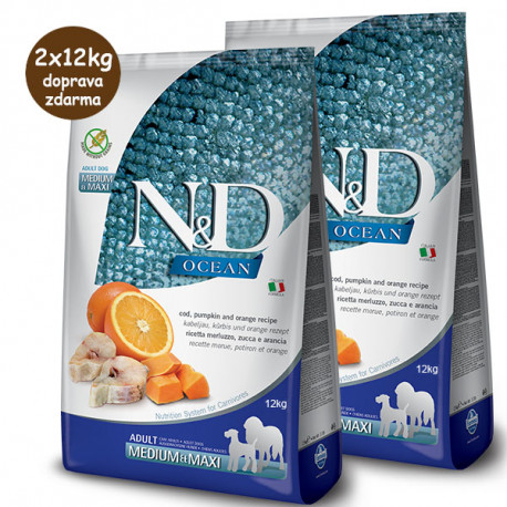 copy of N&D Pumpkin Adult Medium/Maxi - Cod & Orange 12kg Farmina N&D - 2
