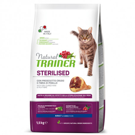 Natural Trainer Sterilized Cat - Prosciutto Crudo 1,5kg Trainer - 1